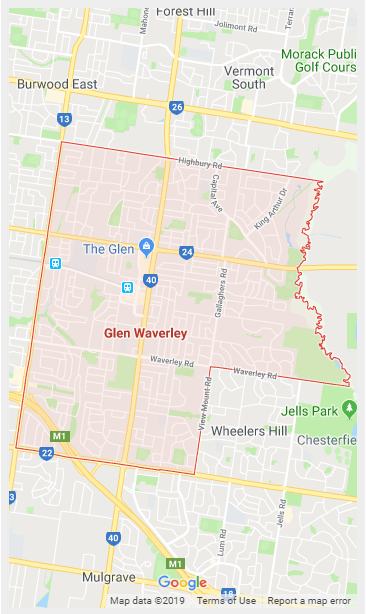 Glen Waverley Map